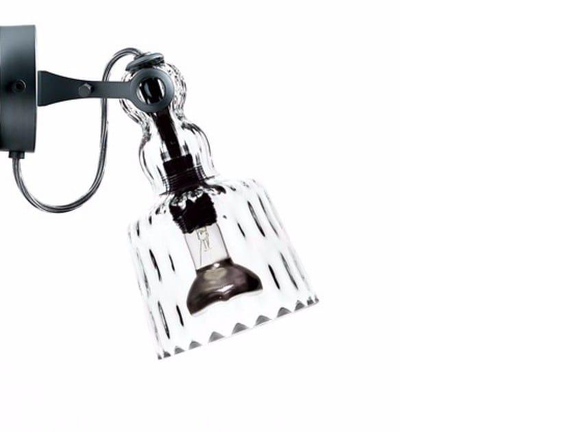 Blown glass wall lamp ACQUAPARETE DIAMOND - Produzione Privata