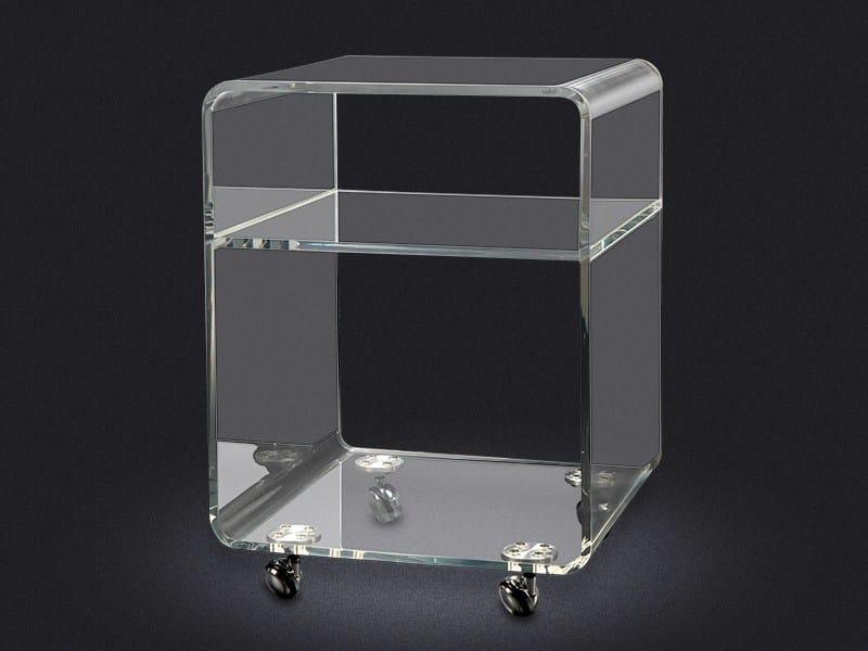 Storage acrylic bathroom cabinet with casters ACRYLIC ROLLER SET - Vallvé Bathroom Boutique