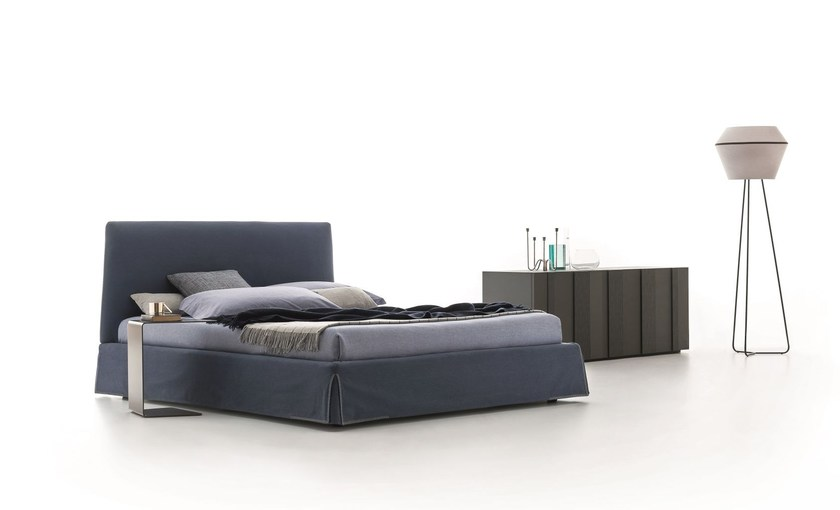 Fabric bed with high headboard with upholstered headboard ADEL - Ditre Italia