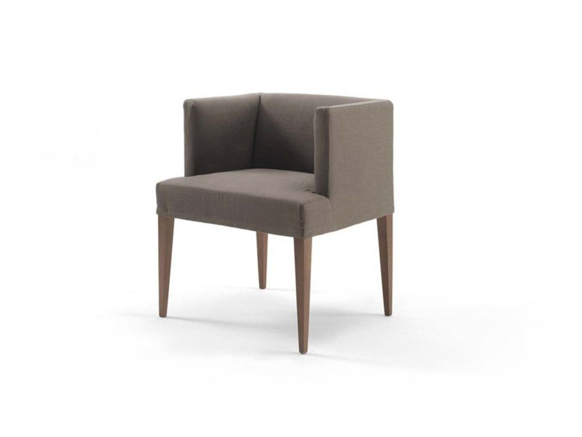 Upholstered fabric easy chair with armrests ADELE JUNIOR - FRIGERIO POLTRONE E DIVANI