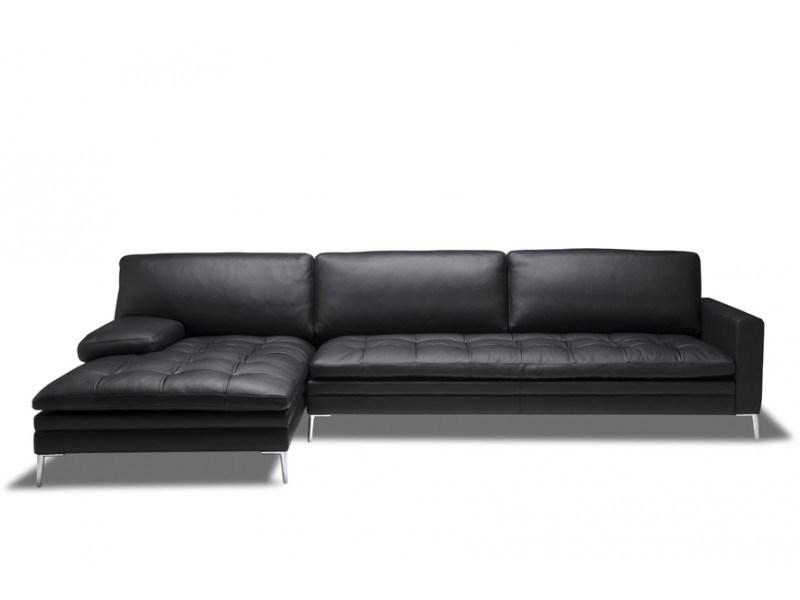 Sectional leather sofa with chaise longue ADONIS SECTIONAL - Canapés Duvivier