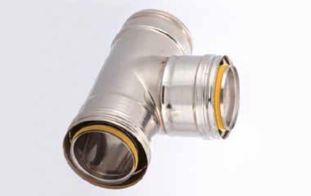 Stainless steel flue ADW ARIA - Doppia parete isolamento aria by Schiedel
