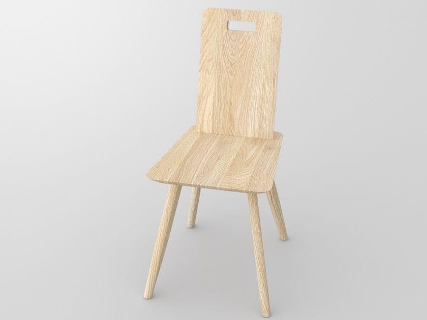 Sedia in legno massello AETAS | Sedia by Vitamin Design