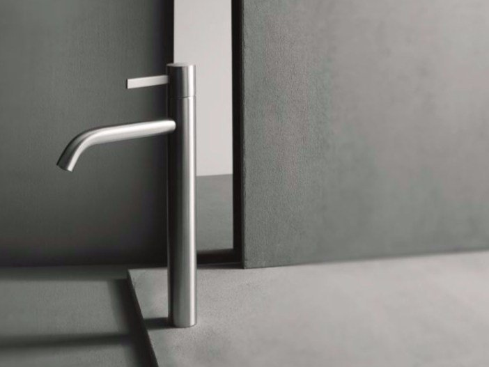 Single handle washbasin mixer with brushed finishing AF/21 - A706WF - ABOUTWATER