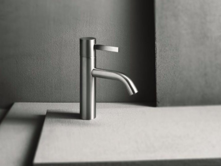 Countertop single handle washbasin mixer with brushed finishing AF/21 | Washbasin mixer with brushed finishing - ABOUTWATER