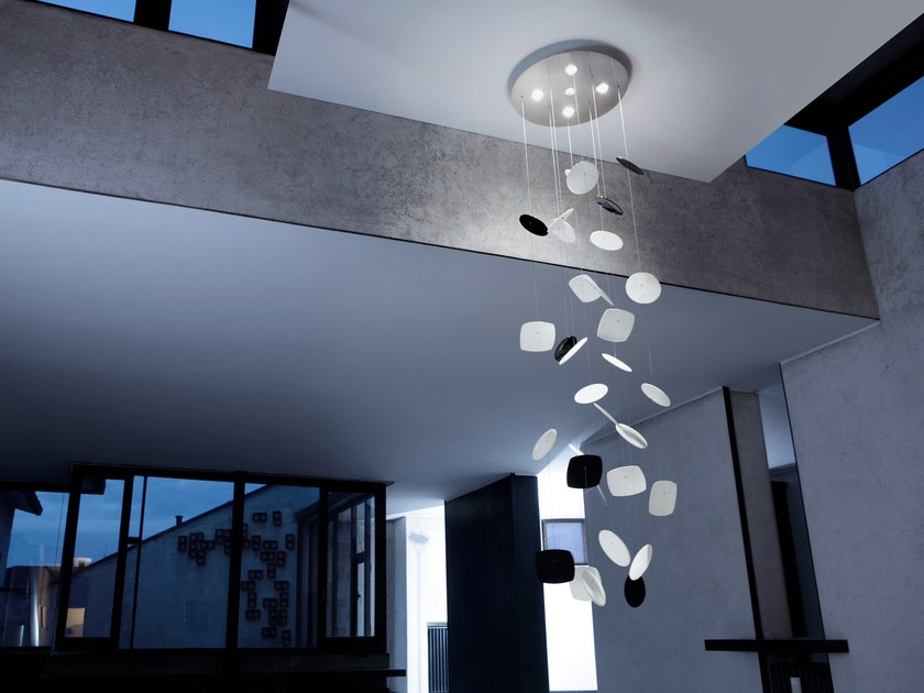 Direct light stainless steel pendant lamp AFEF | Pendant lamp by PANZERI