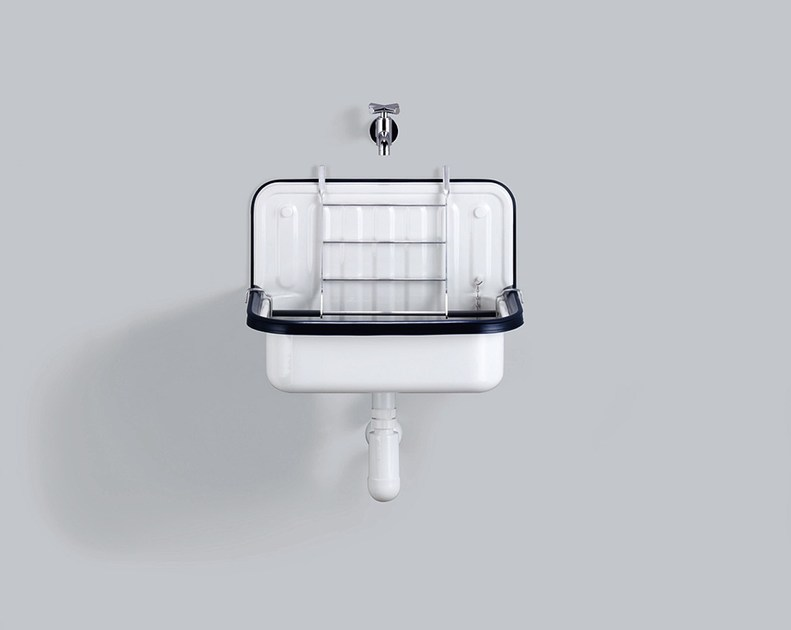 Bucket sink from glazed steel AG.STAHLFORM505 - ALAPE