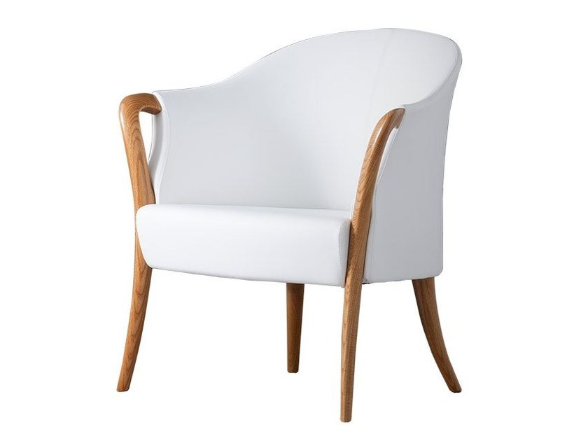 Fabric easy chair with armrests AGATHA by Chaarme