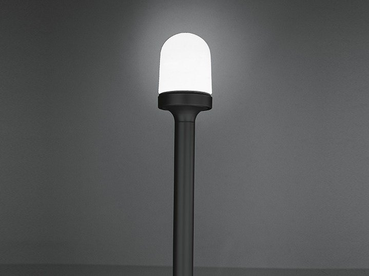 Glass and aluminium garden lamp post AGLAIA - Artemide