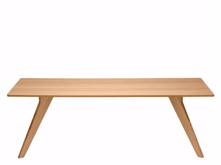 Rectangular oak table AGO - AG1 | Oak table - Alias