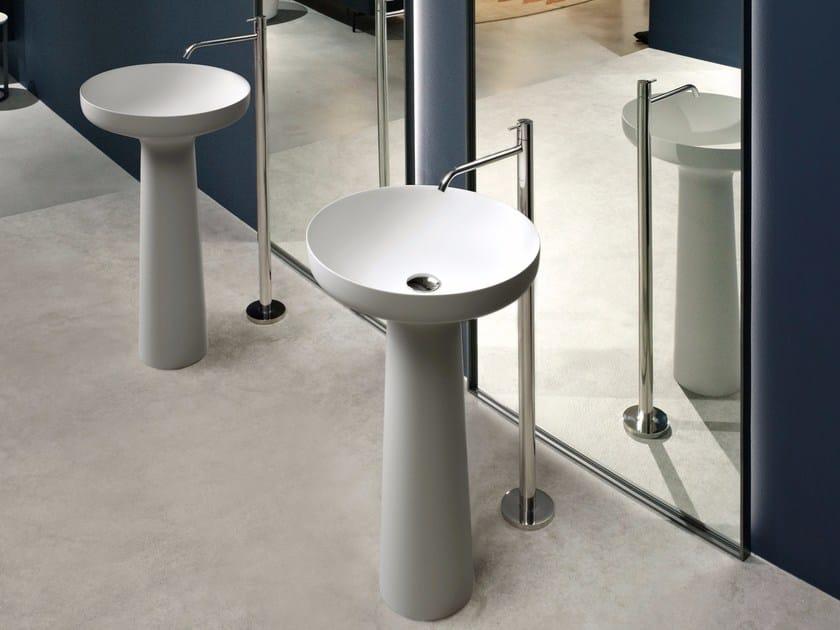 Lavabo freestanding rotondo in Flumood® AGO85 - Antonio Lupi Design