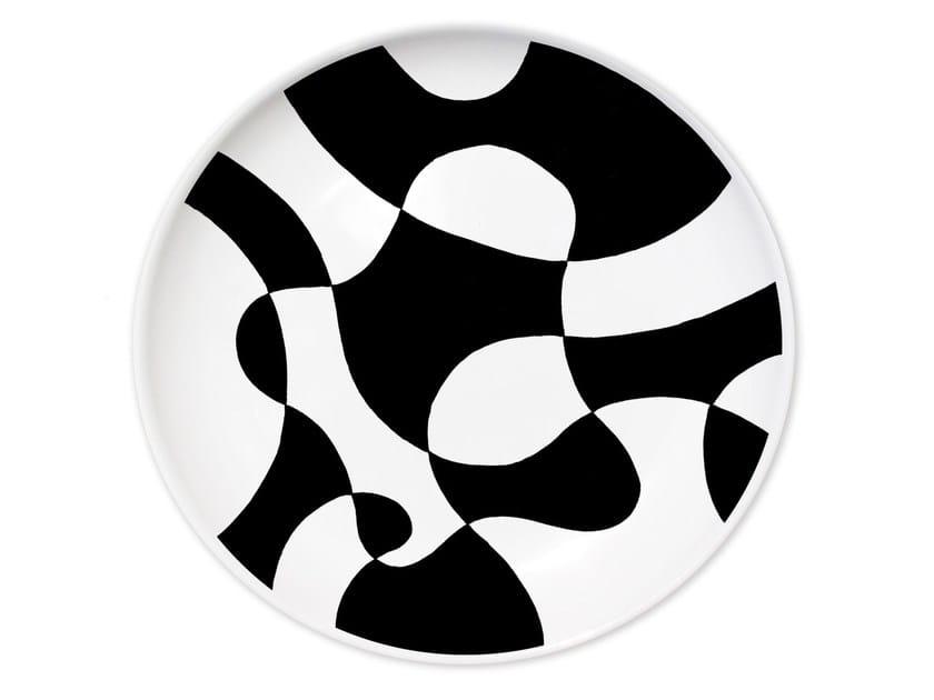 Ceramic dinner plate AGORÀ MUDEC III - Kiasmo