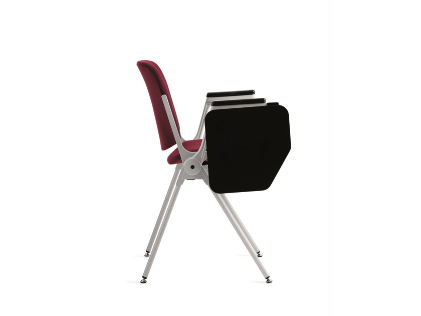 Fabric training chair with writing tablet AGORÀ | Training chair with writing tablet - Emmegi