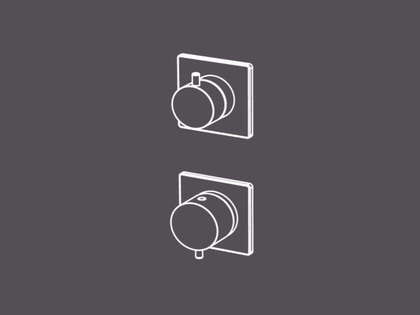 Miscelatore doccia incasso con deviatore 3 vie integrato AIC5 | Miscelatore per doccia by Radomonte