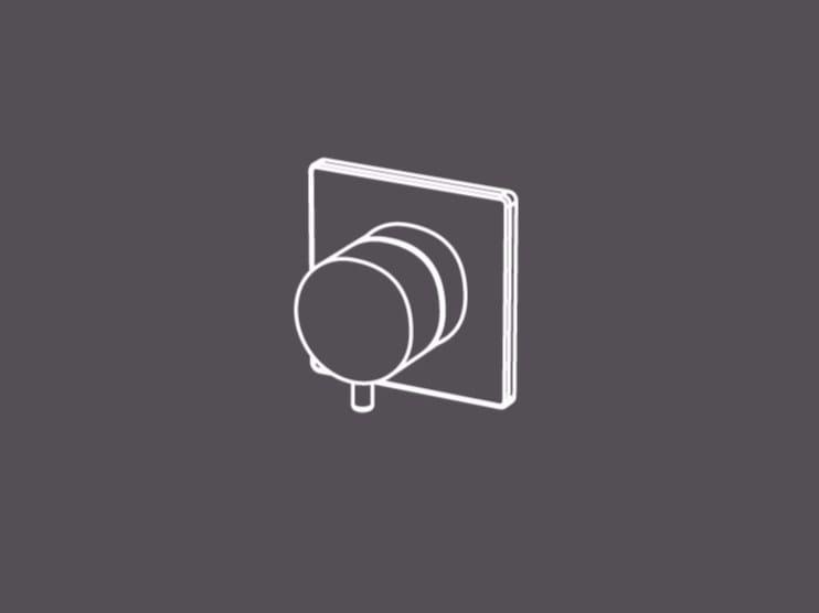 Miscelatore monocomando da incasso a parete AIC8 by Radomonte