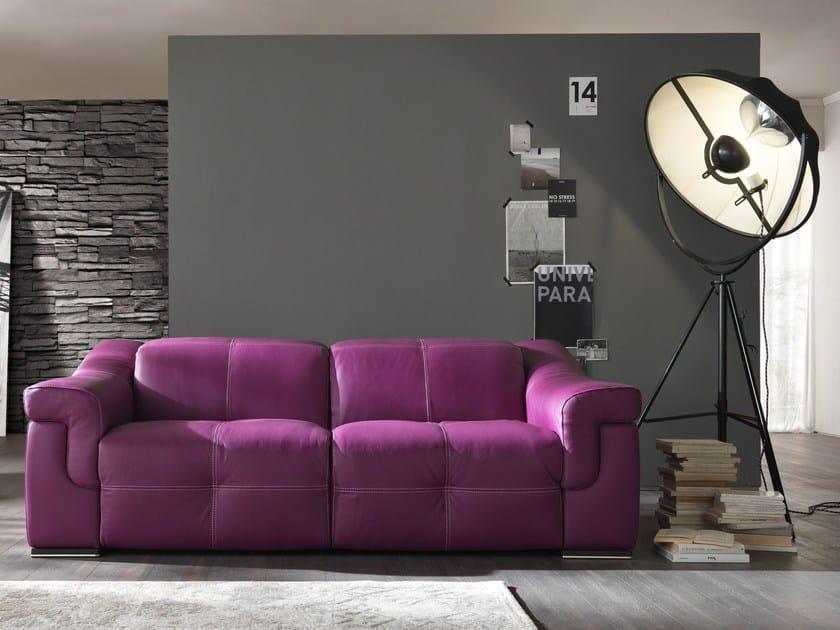 Leather sofa AIKO | Sofa - Egoitaliano
