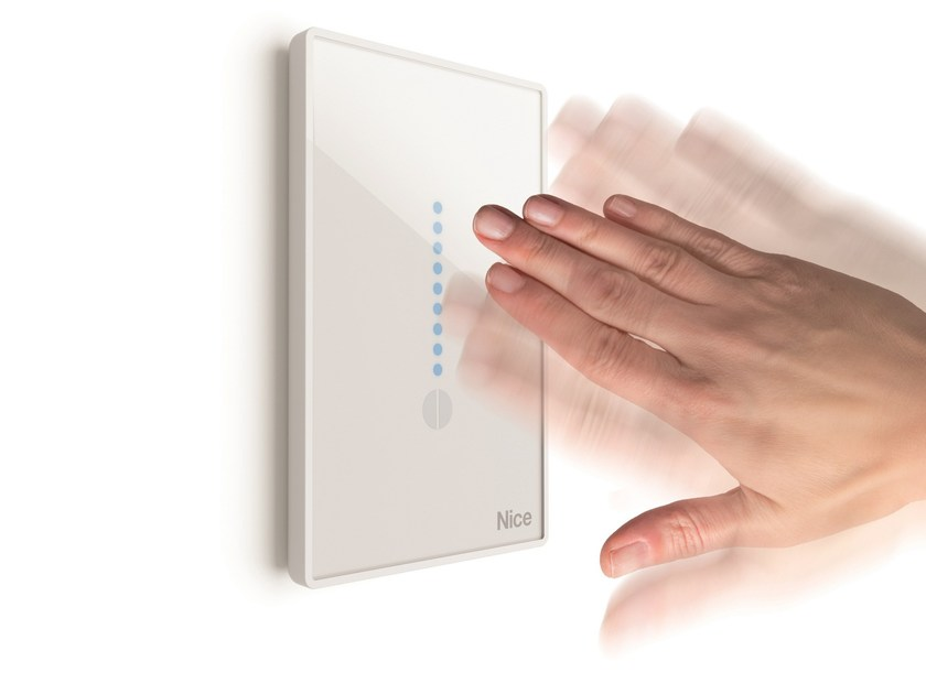 Touchless wall-mounted radio transmitter AIR by Nice