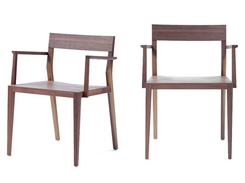 Wooden chair with armrests AIR PLUS - MINT FACTORY