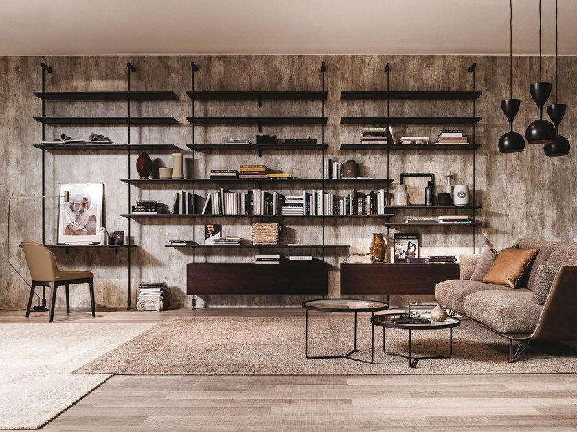 Wall-mounted sectional bookcase AIRPORT by Cattelan Italia