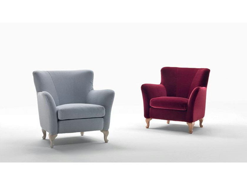 Fabric armchair with armrests ALAN | Fabric armchair by Marac