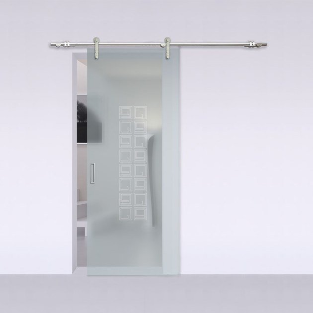 Porta scorrevole in vetro satinato alaska steel - Porta scorrevole vetro satinato ...