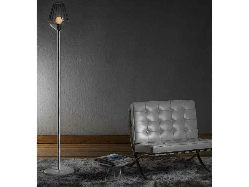 Glass floor lamp ALBA | Floor lamp - ILIDE italian light design
