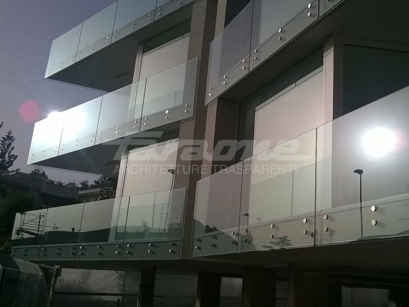 Glass and steel balustrade ALBA R09-B / R09-C - FARAONE