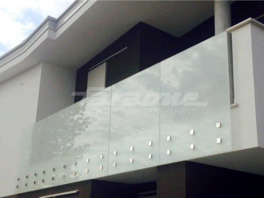 Glass and steel balustrade ALBA R09-D / R09-E by FARAONE