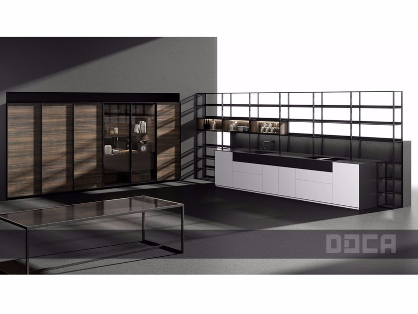 Lacquered kitchen without handles ALBENS SEDAMAT BLANCO by Doca