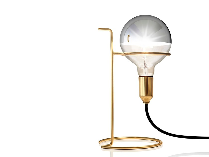 Brass table lamp ALBERT - Sollos
