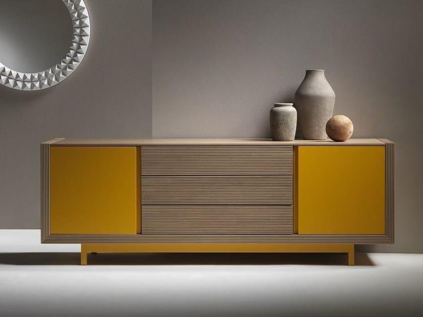 Lacquered wooden sideboard ALCHIMIA bassa by ariannasoldati