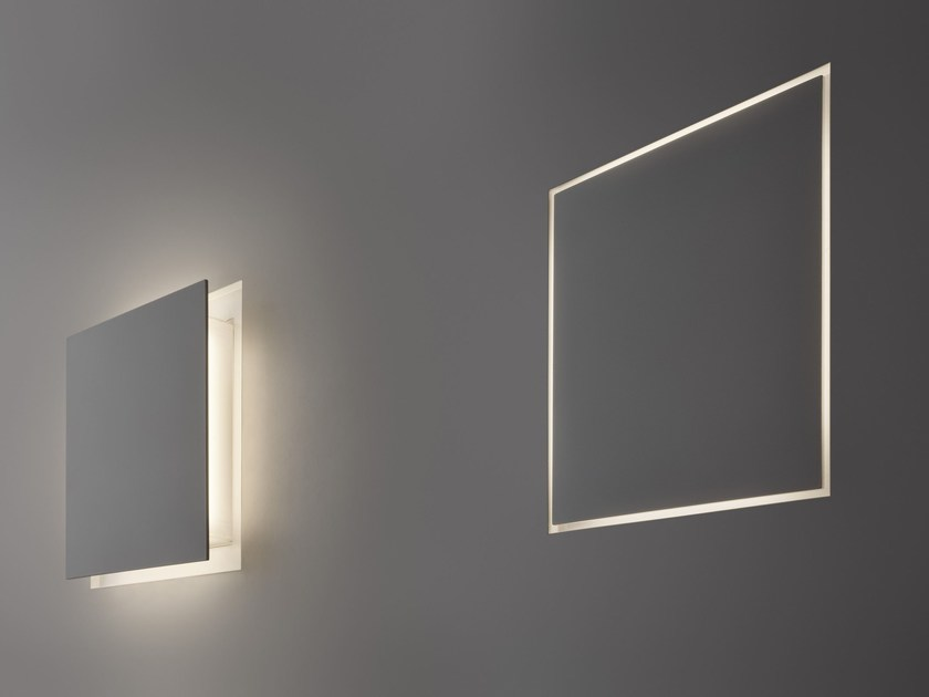 LED indirect light wall lamp ALDECIMO by PANZERI