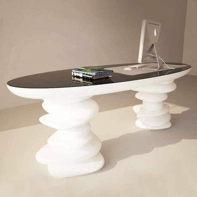 Lacquered Adamantx® executive desk ALDINGTON - ZAD ITALY