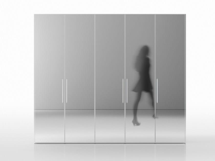 Mirrored wardrobe ALFABETO FRAMED DOOR | Mirrored wardrobe - De Rosso