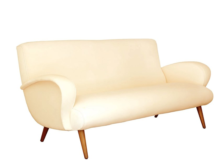 2 seater fabric sofa ALFAMA | Sofa - Branco sobre Branco