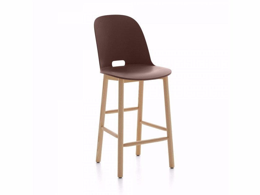 Chair with footrest ALFI | Chair by Emeco