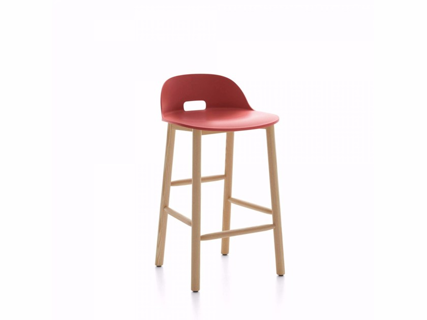 High stool with footrest ALFI | Stool by Emeco