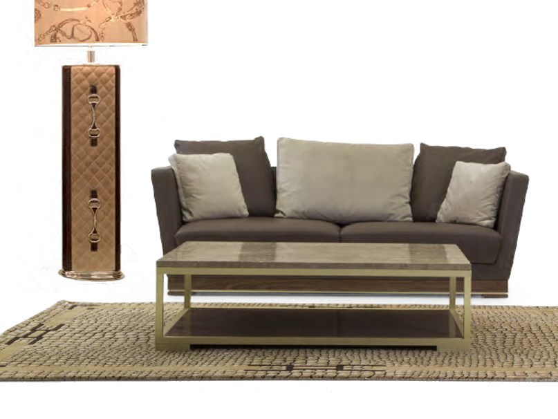 Upholstered 3 seater leather sofa ALHAMBRA | Sofa by Formitalia Group