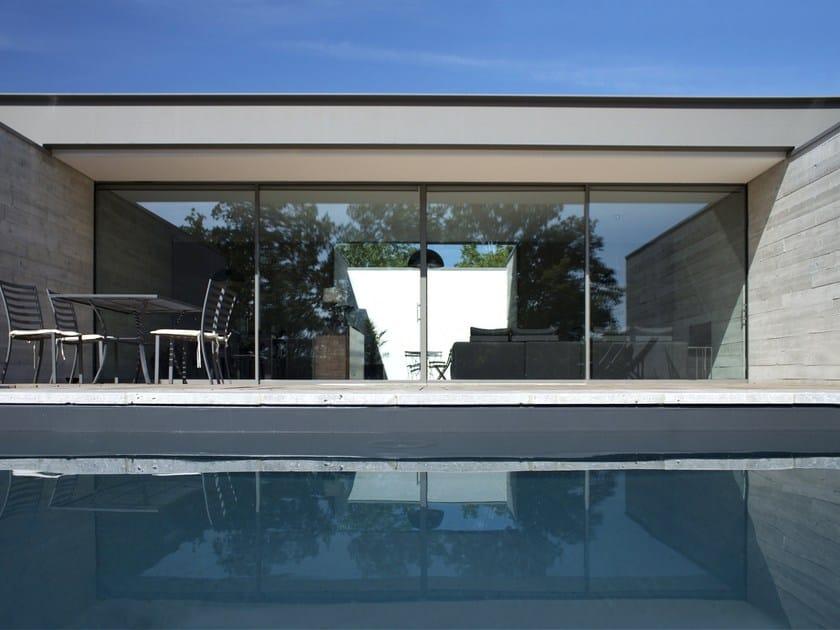 Finestra scorrevole in alluminio domal scorrevole minimale for Finestra scorrevole esterno muro