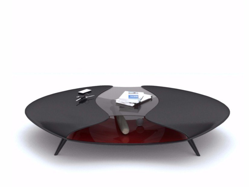 Adamantx® coffee table with storage space ALIEN - ZAD ITALY