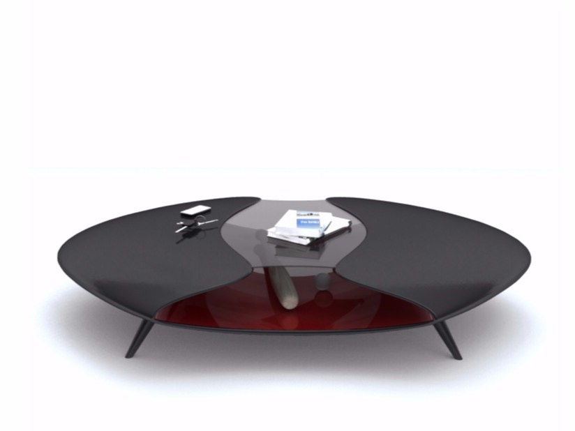 Adamantx® coffee table with storage space ALIEN by ZAD ITALY