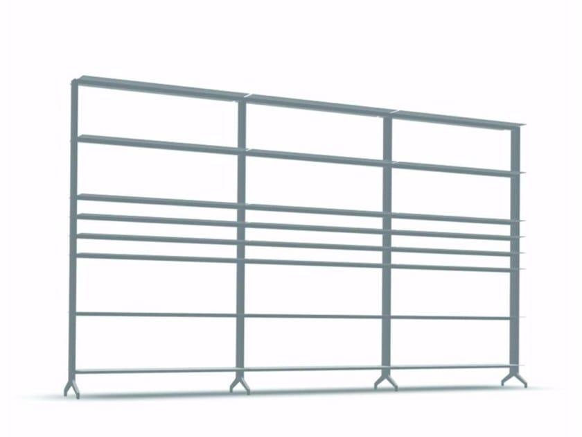 Open modular aluminium bookcase ALINE - J02 - Alias
