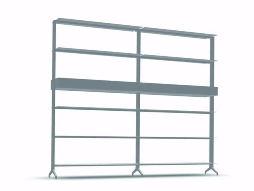 Open modular aluminium bookcase ALINE - J03 by Alias