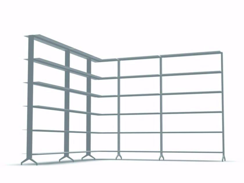 Open modular aluminium bookcase ALINE - J05 - Alias