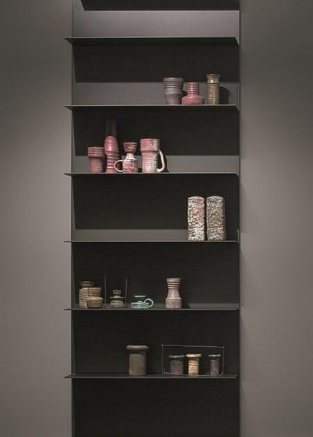 Libreria a giorno componibile in alluminio all emmebi for Mensole in alluminio