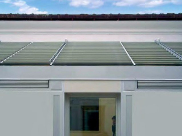 Adjustable aluminium solar shading ALL SUN by Siamesi