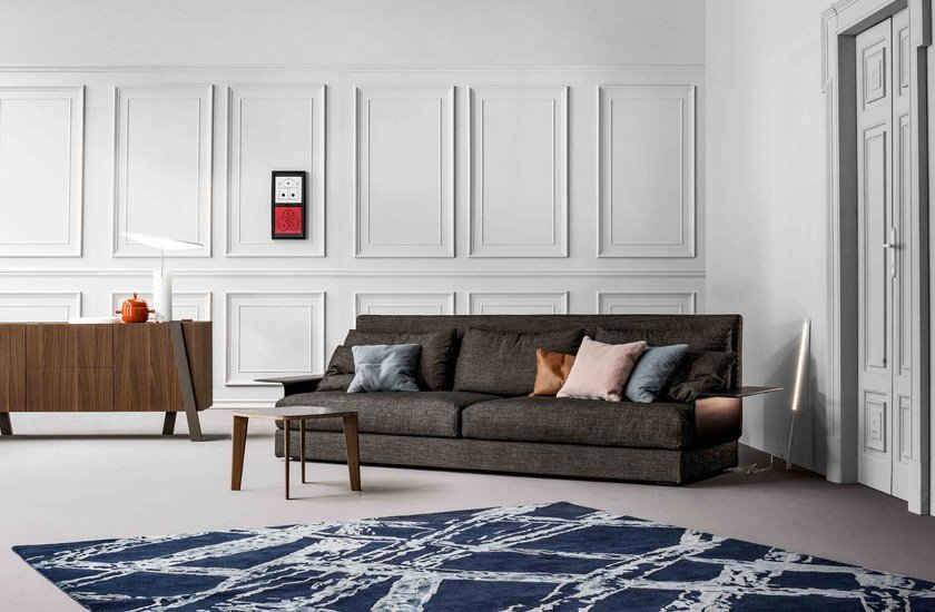 Sofa with chaise longue ALL-TWO | Upholstered sofa by Bonaldo