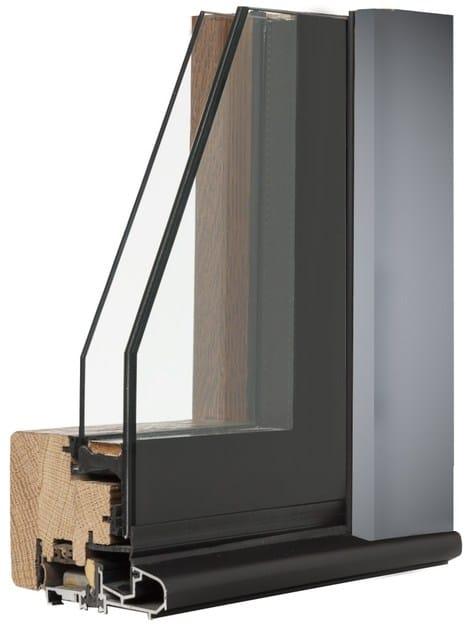 Wooden and glass window ALLEGRI by Italserramenti