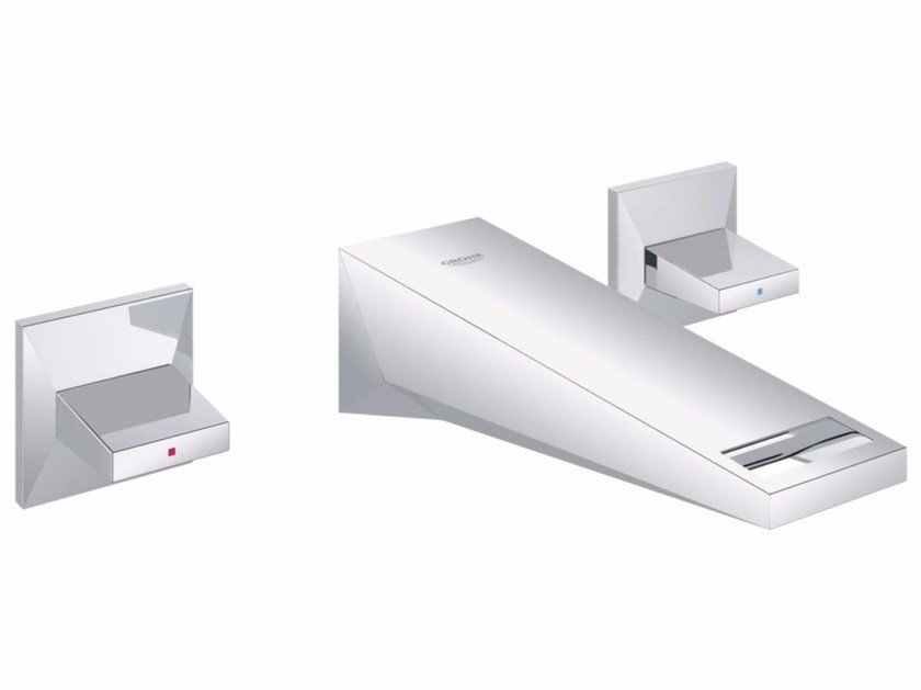 3 hole washbasin tap ALLURE BRILLIANT SIZE S | Wall-mounted washbasin tap - Grohe