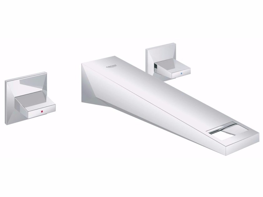 3 hole washbasin tap ALLURE BRILLIANT SIZE M | Wall-mounted washbasin tap - Grohe